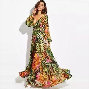 Floral Long Sleeved Dress